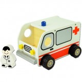 Wooden Kid's Toy Vehicle - Ambulance