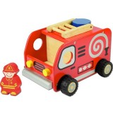Wooden Kid's Toy Vehicle - Fire Engine