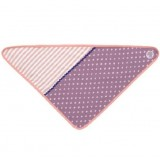 Apple Park Organic Farm Buddies Bandana Bib - Purple Polka Dots