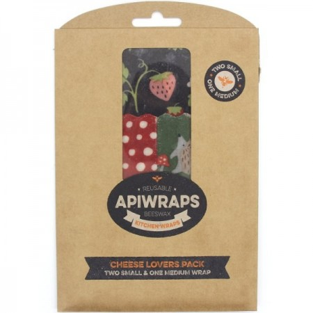 Apiwraps Reusable Beeswax Wraps - Cheese Lovers Pack
