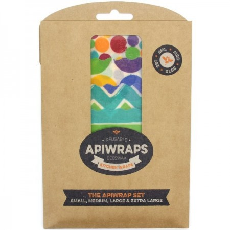 Apiwraps Reusable Beeswax Wraps - The Apiwrap Set