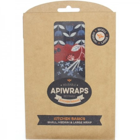 Apiwraps Reusable Beeswax Wraps - Kitchen Basics