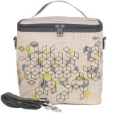 SoYoung Large Insulated Cooler Bag - Formation Raw Linen