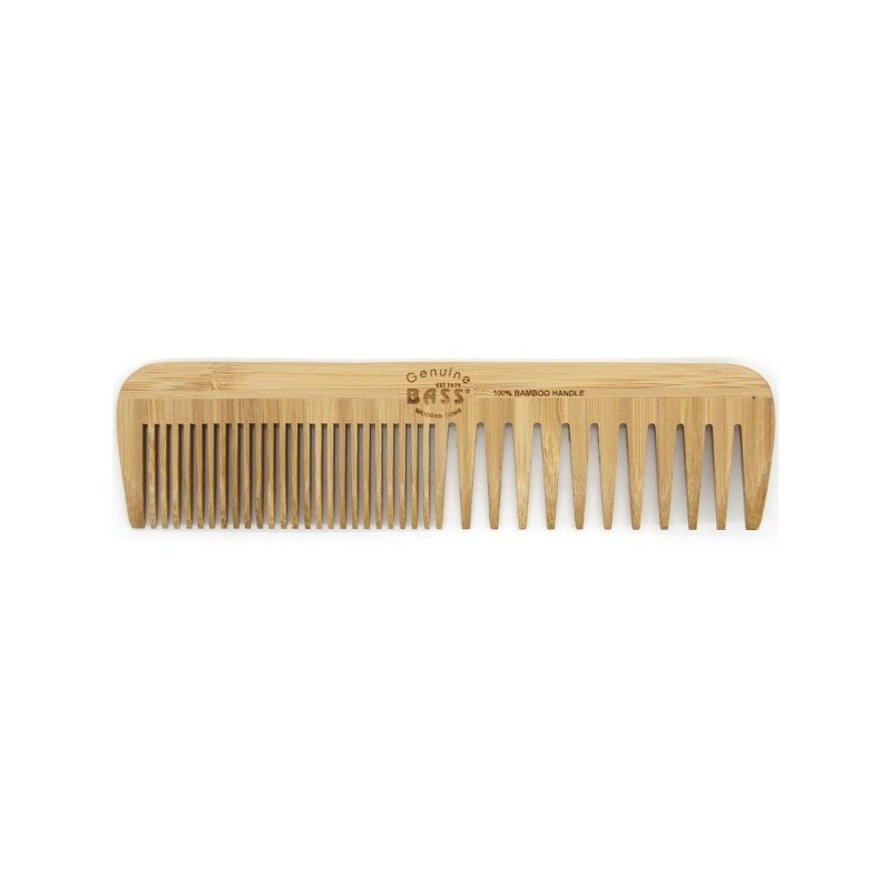 Bass Bamboo large wide fine tooth comb