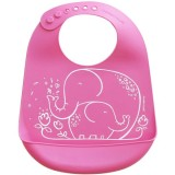 Mini Twist Silicone Bucket Bib - Elephant Hugs Pink