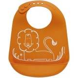 Mini Twist Silicone Bucket Bib - Dandy Lion Orange