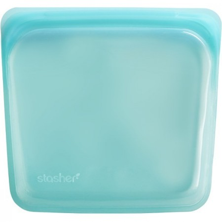 Stasher Silicone Storage Bag Sandwich Size 450ml - Aqua