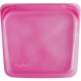 Stasher Silicone Storage Bag Sandwich Size 450ml - Raspberry