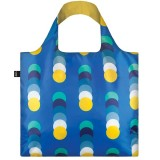 Loqi Reusable Shopping Bag - Blue Geometric Circles