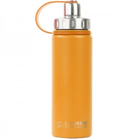 EcoVessel Boulder Insulated Bottle 600ml - Mystic Mango