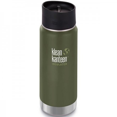 Klean Kanteen Wide Insulated Bottle 16oz 473ml - Fresh Pine Cafe Cap (Klean Coat) LAST CHANCE!