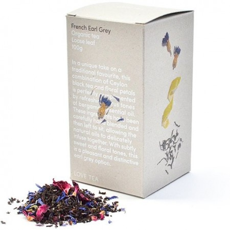 Love Tea Organic Loose Leaf Tea 100g - French Earl Grey