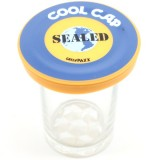 Cool Cap lids sealed - blue & orange by Greenpaxx