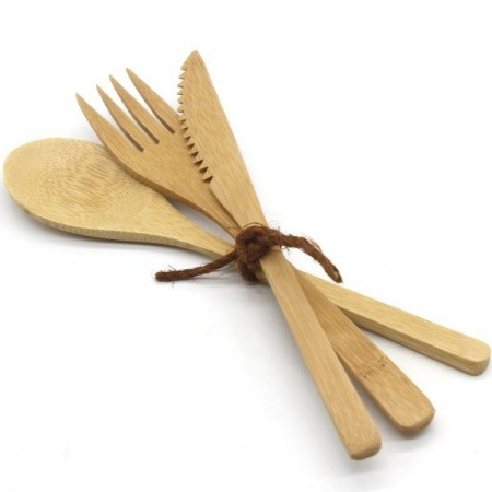 Biome Bamboo Reusable Cutlery Set - 3 piece