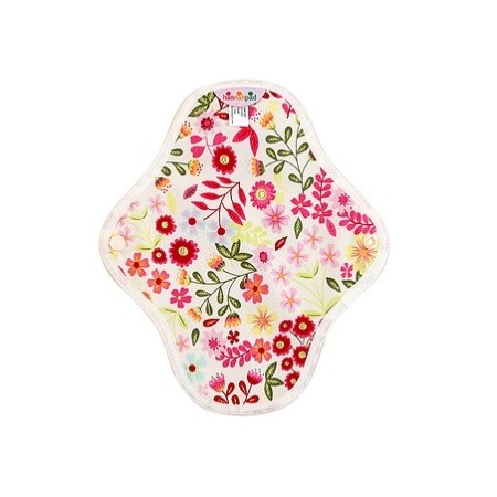 Hannahpad Cloth Panty Liner 2pk - Flower Garden Pink with Grip