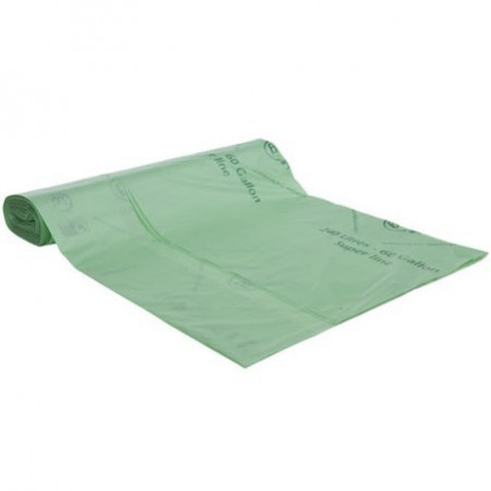 BioBag Superline biodegradable plastic bin liners 240 litre (12 bags)