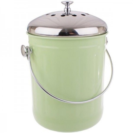 Appetito Steel Compost Bin 5L - Green
