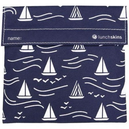 Lunchskins Sandwich Bag - Navy Boat