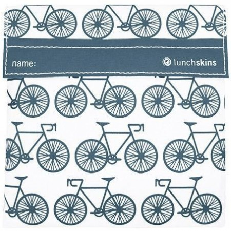 Lunchskins Sandwich Size - Charcoal Bicycle