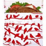 Lunchskins Sandwich Bag - Red Bird on Branch