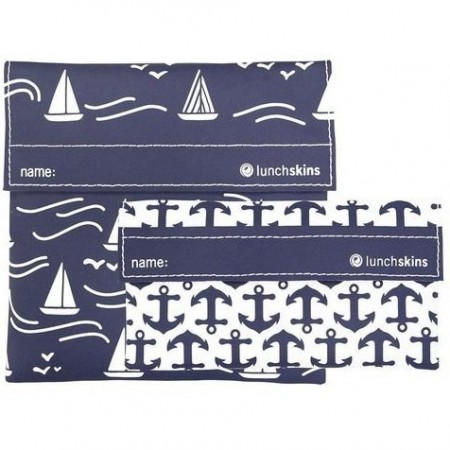 Lunchskins Sandwich Bag and Snack Bag Set � Navy Boat