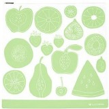 Lunchskins Gallon Reusable Zip Bag - Green Fruit