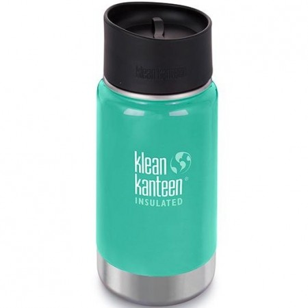 Klean Kanteen Wide Insulated Bottle 12oz 355ml - Sea Crest Cafe Cap (Klean Coat)
