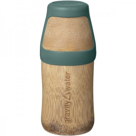 Bamboo Water Bottle Yoga Small 220ml - Green