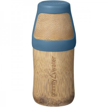 Bamboo Water Bottle Yoga Small 220ml - Blue - Biome Eco Stores