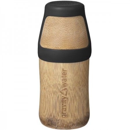 Bamboo Water Bottle Yoga Small 220ml - Black