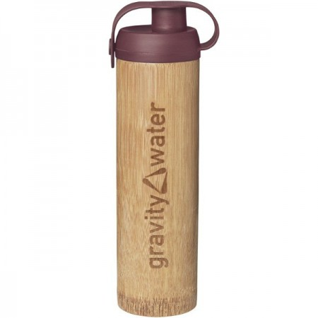 Bamboo Water Bottle Life Large 350ml - Earth Red