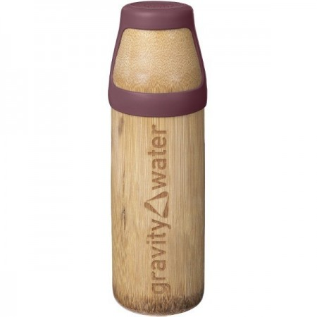 Bamboo Water Bottle Yoga Large 350ml - Earth Red