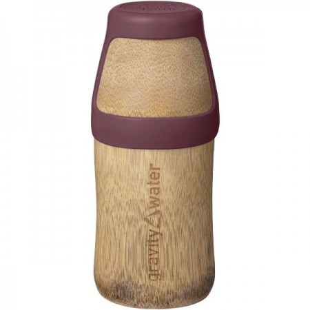 Bamboo Water Bottle Yoga Small 220ml - Earth Red