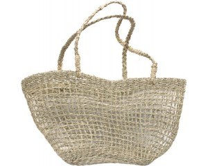 Woven Seagrass Long Handle Tote Bag