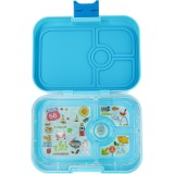 Yumbox Lunch Box - Panino 4 Compartment Blue Fish
