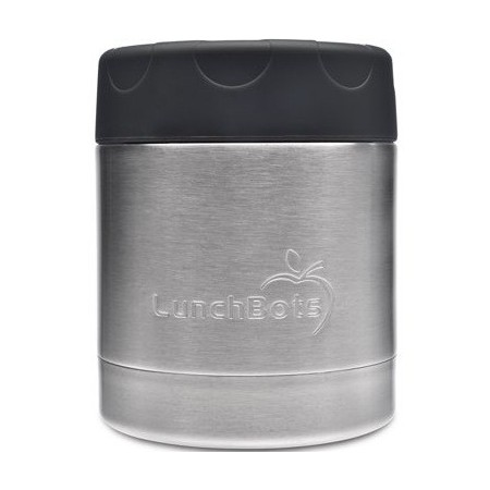 LunchBots Insulated Stainless Steel Container 235ml 8oz - Black