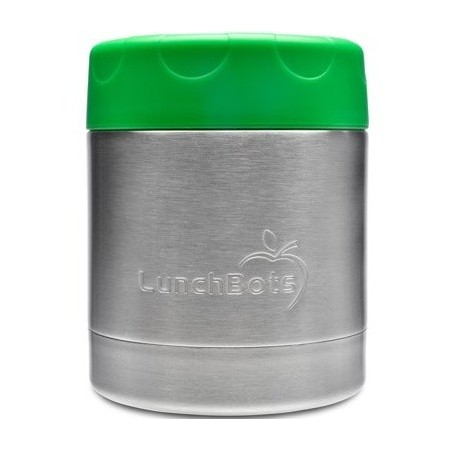 LunchBots insulated stainless steel container 235ml 8oz - green