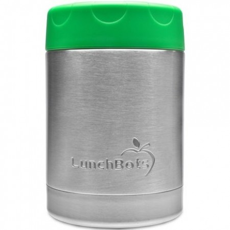 LunchBots insulated stainless steel container 350ml 12oz - green