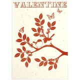 Earth Greetings Card - Valentines (Bottlebrush Seed Paper)