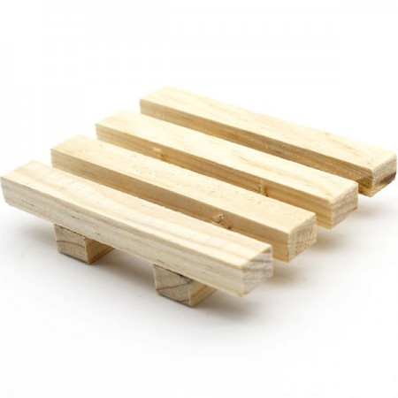 Timber soap rack