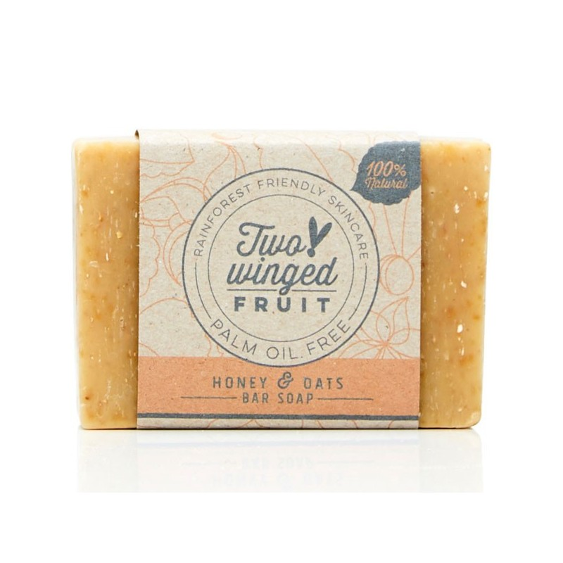 Two-Winged Fruit Bar Soap - Honey & Oat