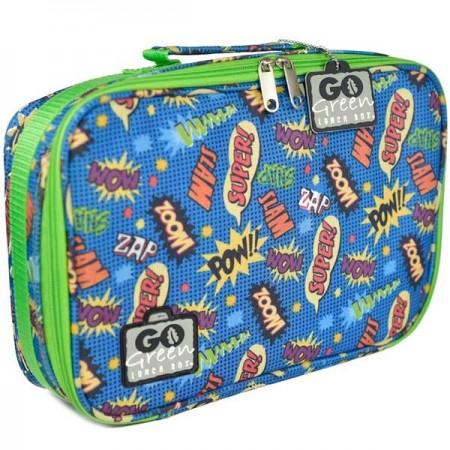 Go Green Lunch Box - Superhero Comic