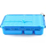 Go Green Snack Box 5 Compartment - Blue