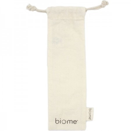 Biome Drawstring Straw Pouch
