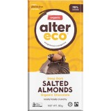 Alter Eco Vegan Organic Chocolate - Dark Salted Almonds 80g