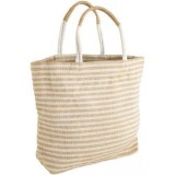 Dharma Door Jute Shopper - White Stripes