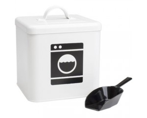 Enamel Laundry Powder Storage Container - Monochrome