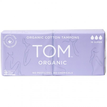Tom Organic Cotton Tampons - Super (16)