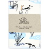 Organic Cotton Handkerchief - Blue Wetlands