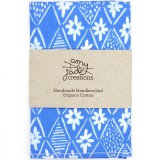 Organic Cotton Handkerchief - Milkflower Blue